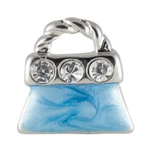 Picture of Blue Crystal Purse Charm